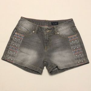Armani Jeans embroidered shorts